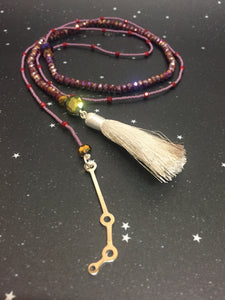 Long Open 'ARIES'  Necklace with Tassel - Riddhika Jesrani