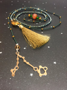 Long Open 'PISCES'  Necklace with Tassel - Riddhika Jesrani