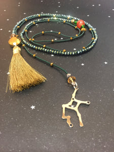 Long Open 'VIRGO' Necklace with Tassel - Riddhika Jesrani