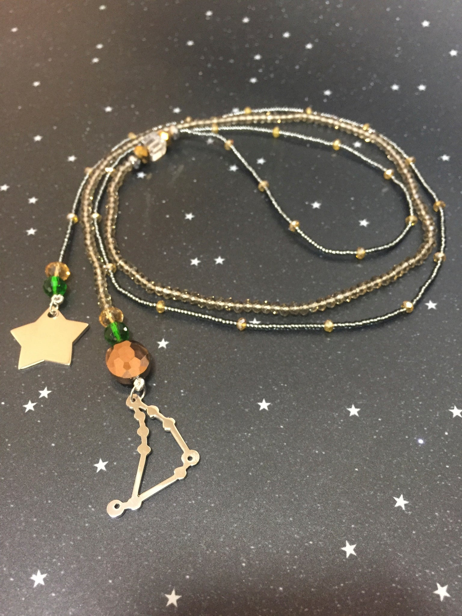 Long Open 'CAPRICORN' Necklace with Star - Riddhika Jesrani