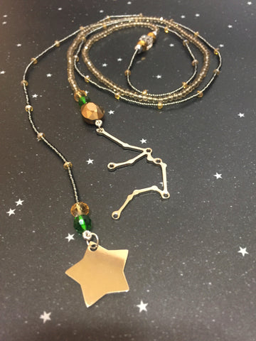 Long Open 'AQUARIUS' Necklace with Star - Riddhika Jesrani
