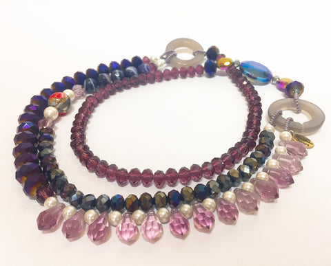 Signature Beaded Purple Burst Necklace - Riddhika Jesrani