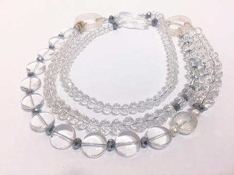 Signature Beaded Transparent Long Necklace - Riddhika Jesrani