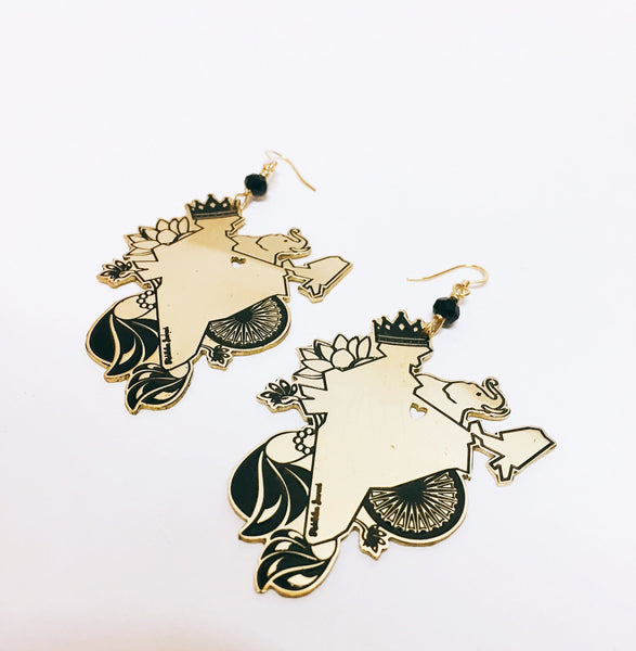 Love India Brass Earrings