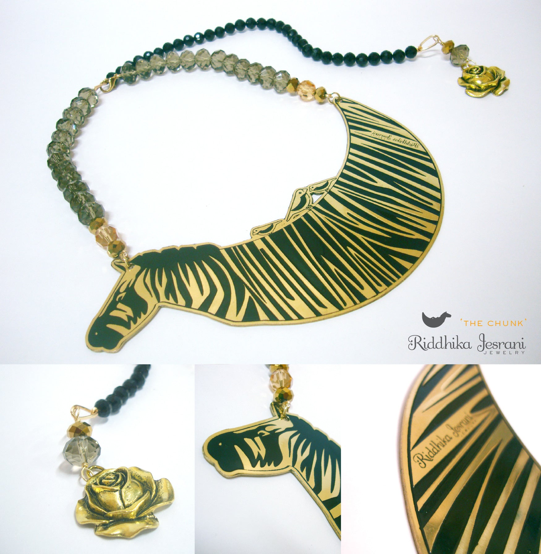 Animal Love Costume Jewelry in India by Riddhika Jesrani  'The Chunk' Necklace