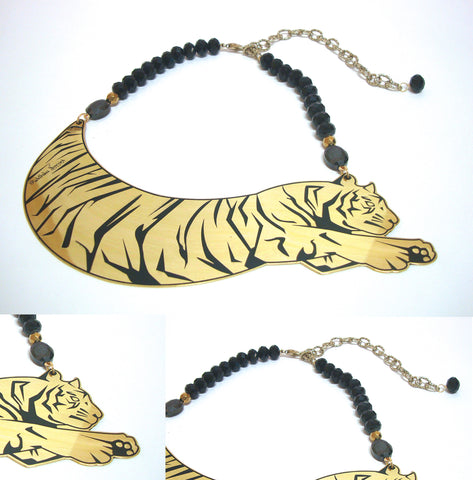 Animal Love 'Small' Tiger Necklace - Riddhika Jesrani