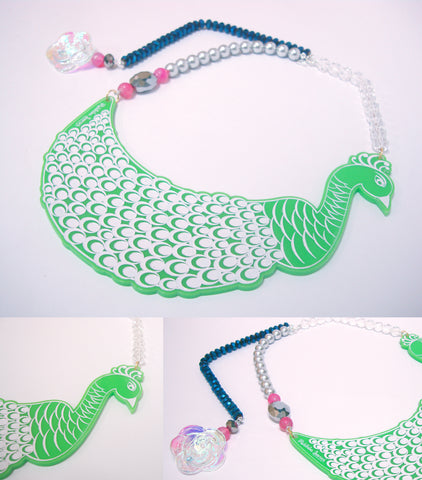 Animal Love 'The Indian Peacock' Necklace - Riddhika Jesrani