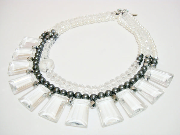 Signature Beaded Icy Pearl Necklace