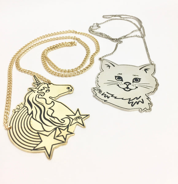 Cat Pendant Chain