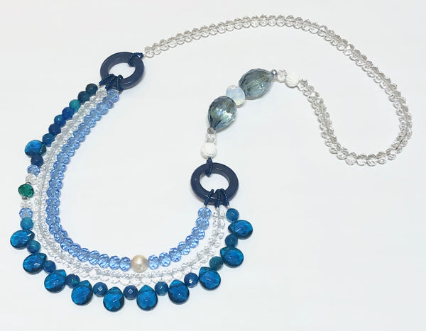 Signature Beaded Beachy Blue Necklace