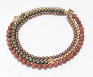 Signature Beaded Sandy Stone Necklace