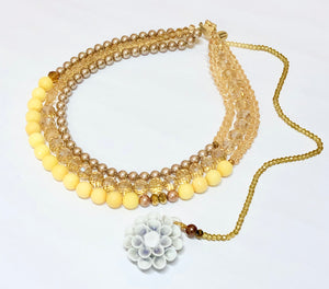Signature Beaded Sunshine Yellow Necklace