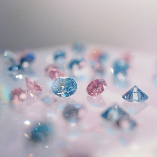 Pink & Blue lab-grown diamonds
