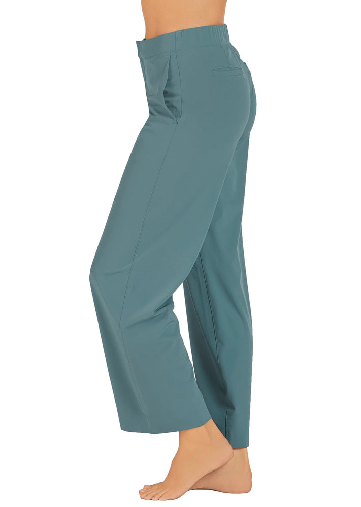 Abi and Joseph Work Commute Full Length Pants - Blue Mirage