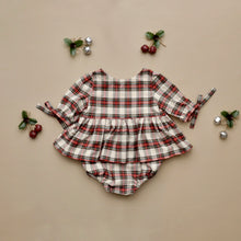 Colette Rompers 3/4 Sleeves Classic Plaid Red MTO