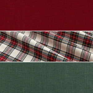 Manda Dress Classic Plaid, Wine, Hunter Green MTO