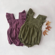 Zaylee Ruffle Rompers Olive RTS
