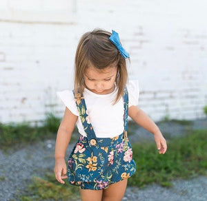 The Holly Suspender Bloomers - Vintage Floral MTO