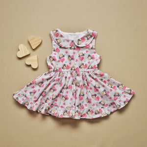 Minnie Mouse Peter Pan Sleevless Dress MTO