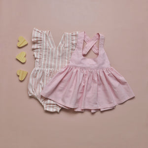 Madison Pinafore Pink Lemonade MTO