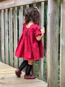 Fiona Tunic Dress Wine RTS