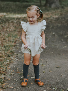 Zaylee Ruffle Rompers Champagne MTO