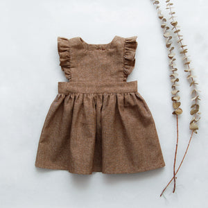Laurel Pinafores Linen Nutmeg Brown MTO