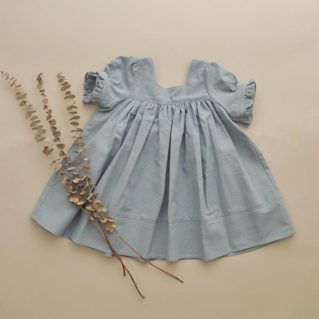 Fiona Tunic, Dress Dusty Blue RTS
