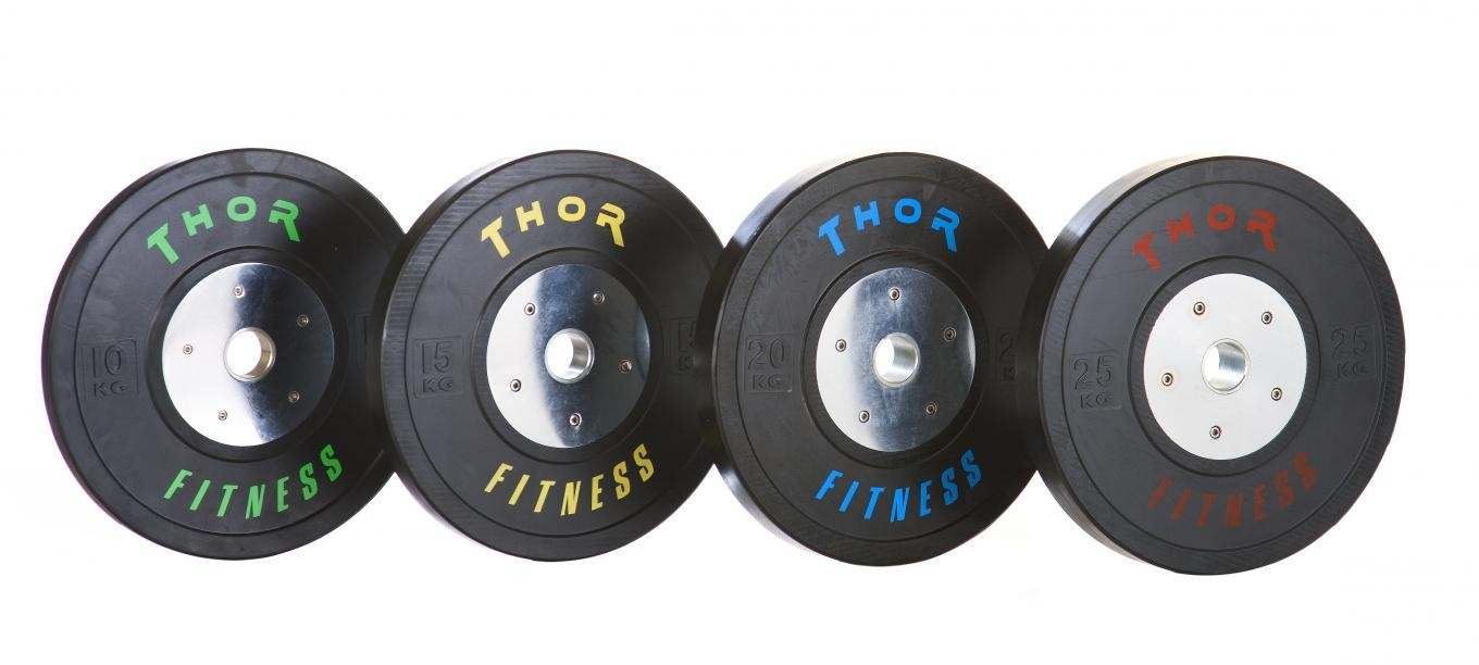 Competition Bumper Plates i sort