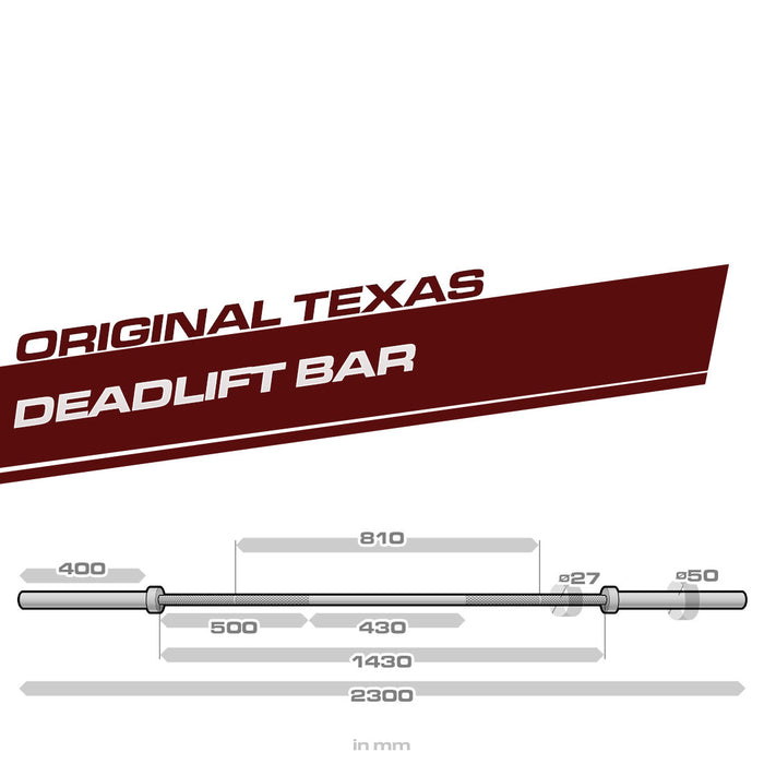 Texas Deadlift Bar Specs