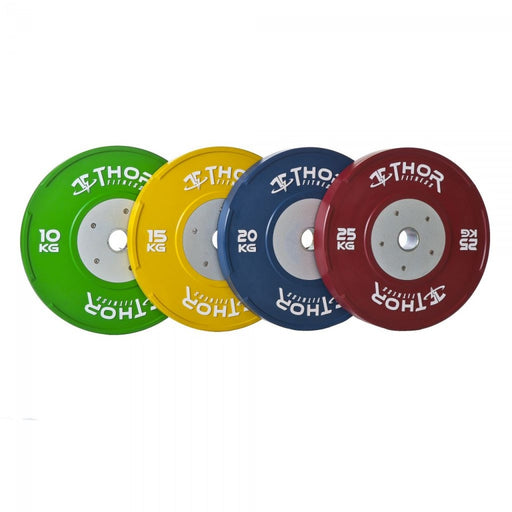 Thor Fitness Competition Bumper Plates i farve