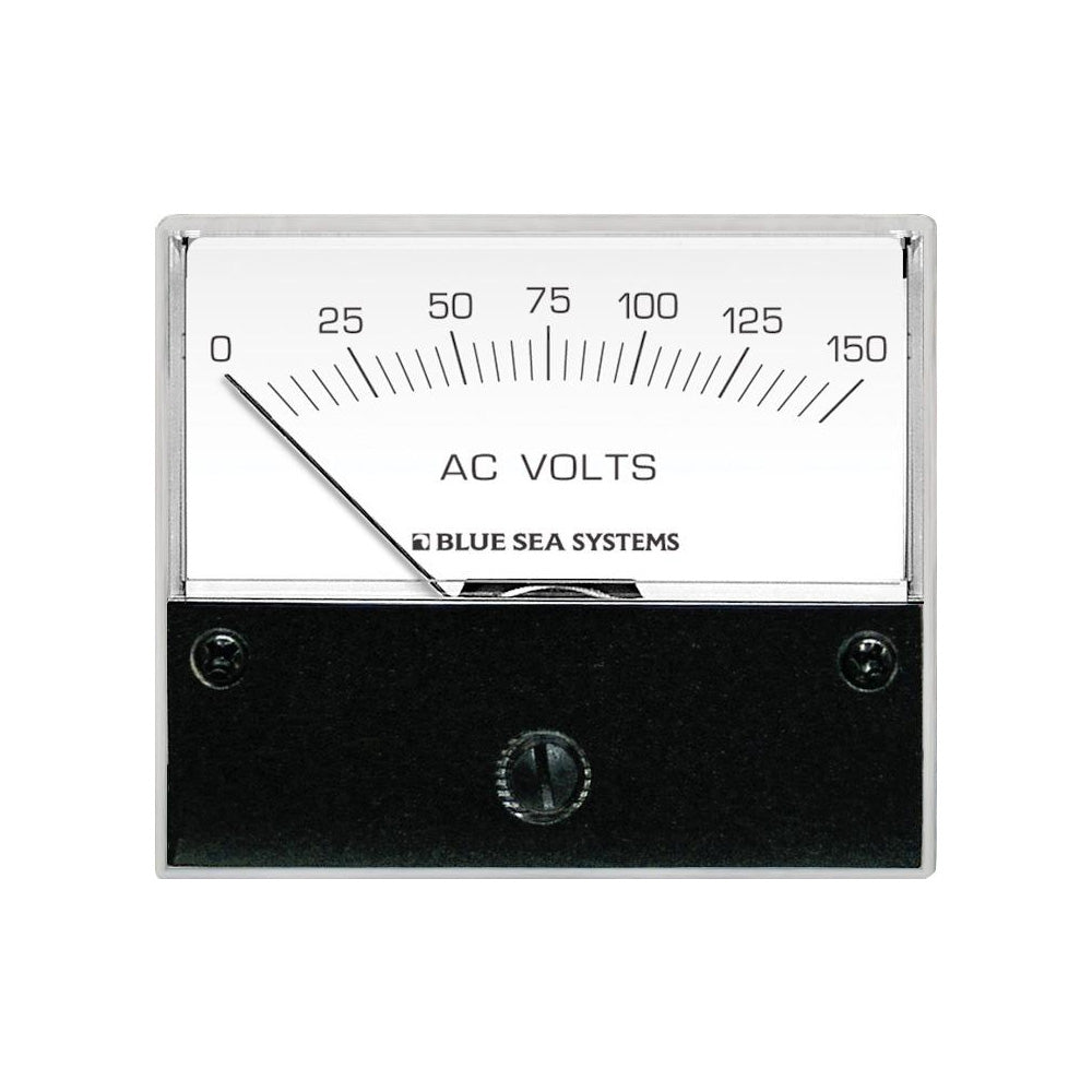 Blue Sea 9353 AC Analog Voltmeter 0-150 Volts AC [9353]