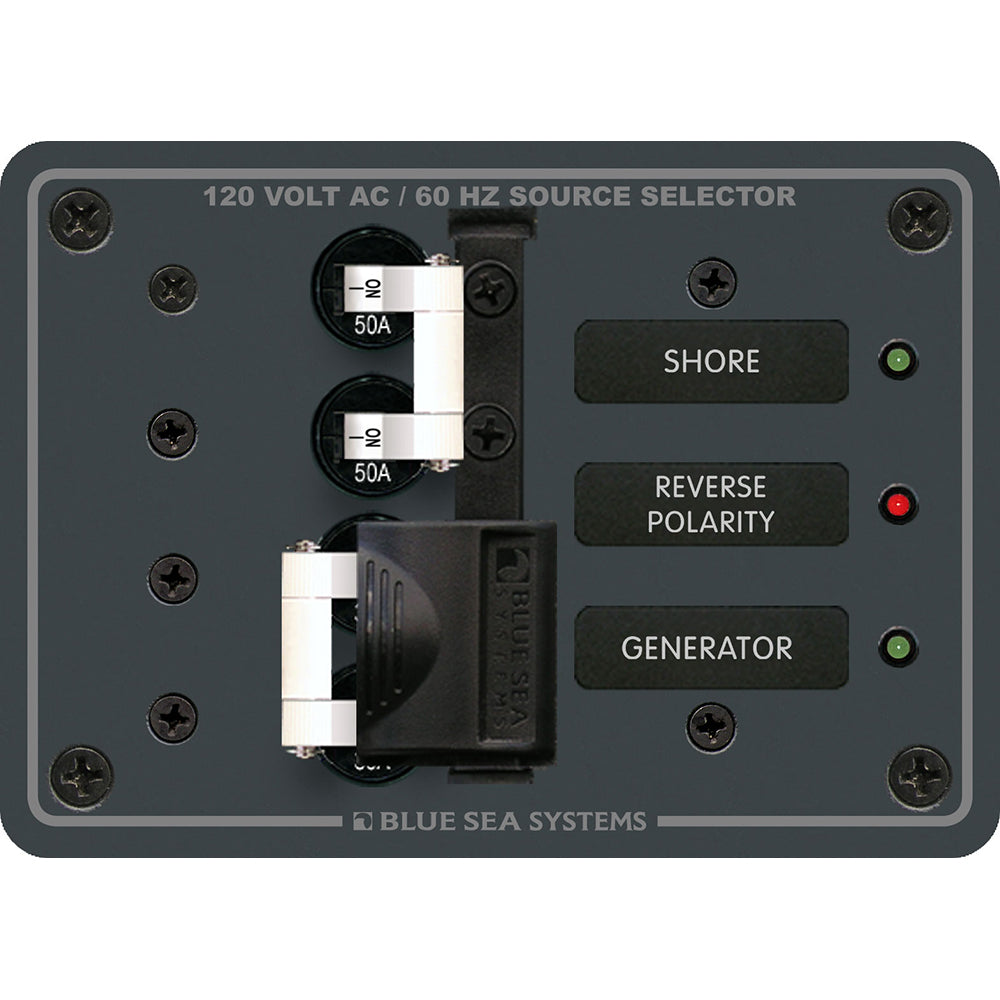 Blue Sea 8061 AC Toggle Source Selector 120v AC 50A [8061]