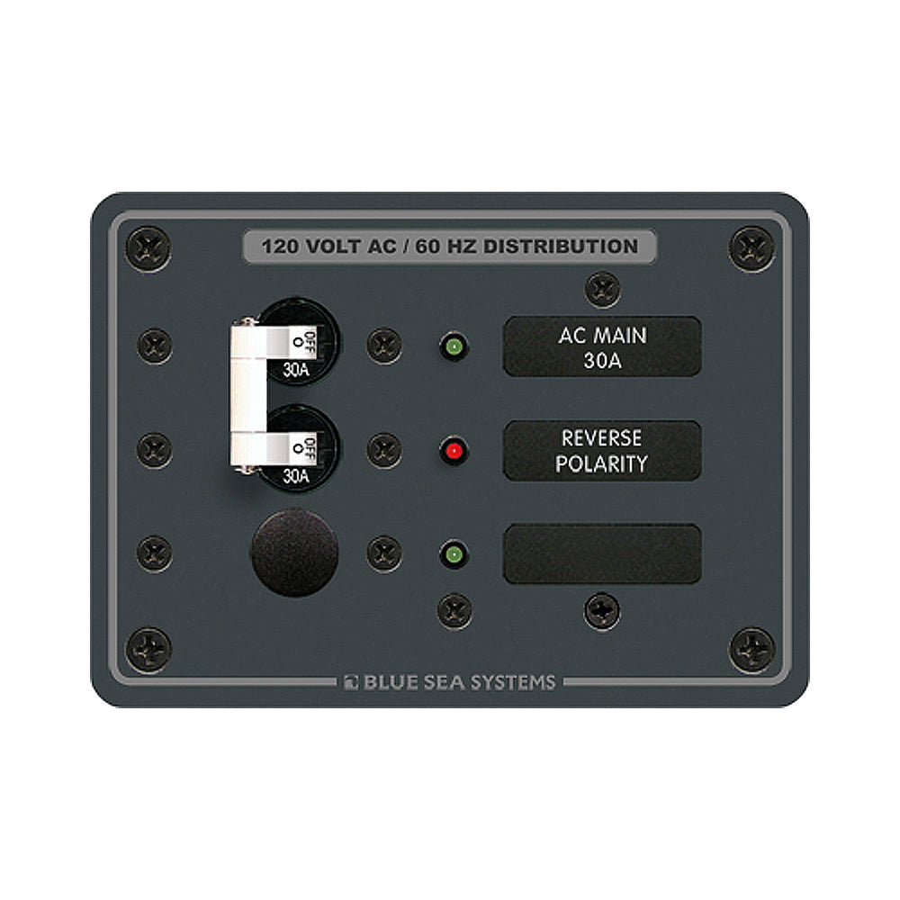 Blue Sea 8029 AC Main +1 Position Breaker Panel - White Switches [8029]