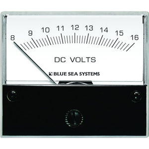 "Blue Sea 8003 DC Analog Voltmeter - 2-3-4"" Face, 8-16 Volts DC [8003]"