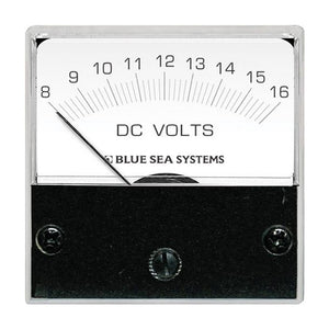 "Blue Sea 8028 DC Analog Micro Voltmeter - 2"" Face, 8-16 Volts DC [8028]"