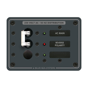 Blue Sea 8129 AC Main + Branch A-Series Toggle Circuit Breaker Panel (230V) - Main + 1 Position [8129]