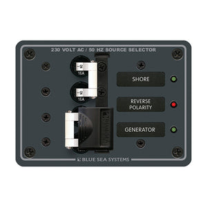 Blue Sea 8132 AC Toggle Source Selector (230V) - 2 Sources [8132]