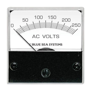 "Blue Sea 8245 AC Analog Micro Voltmeter - 2"" Face, 0-250 Volts AC [8245]"