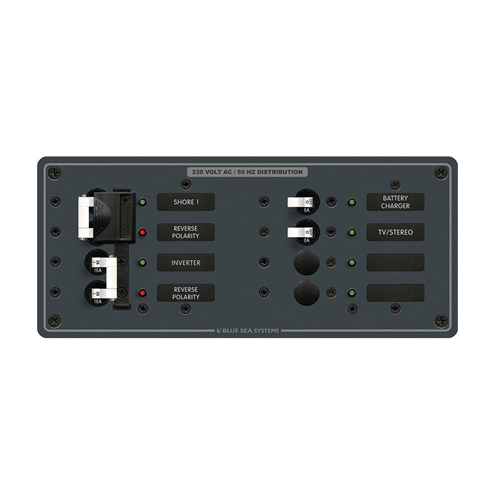 Blue Sea 8599 AC Toggle Source Selector (230V) - 2 Sources + 4 Positions [8599]