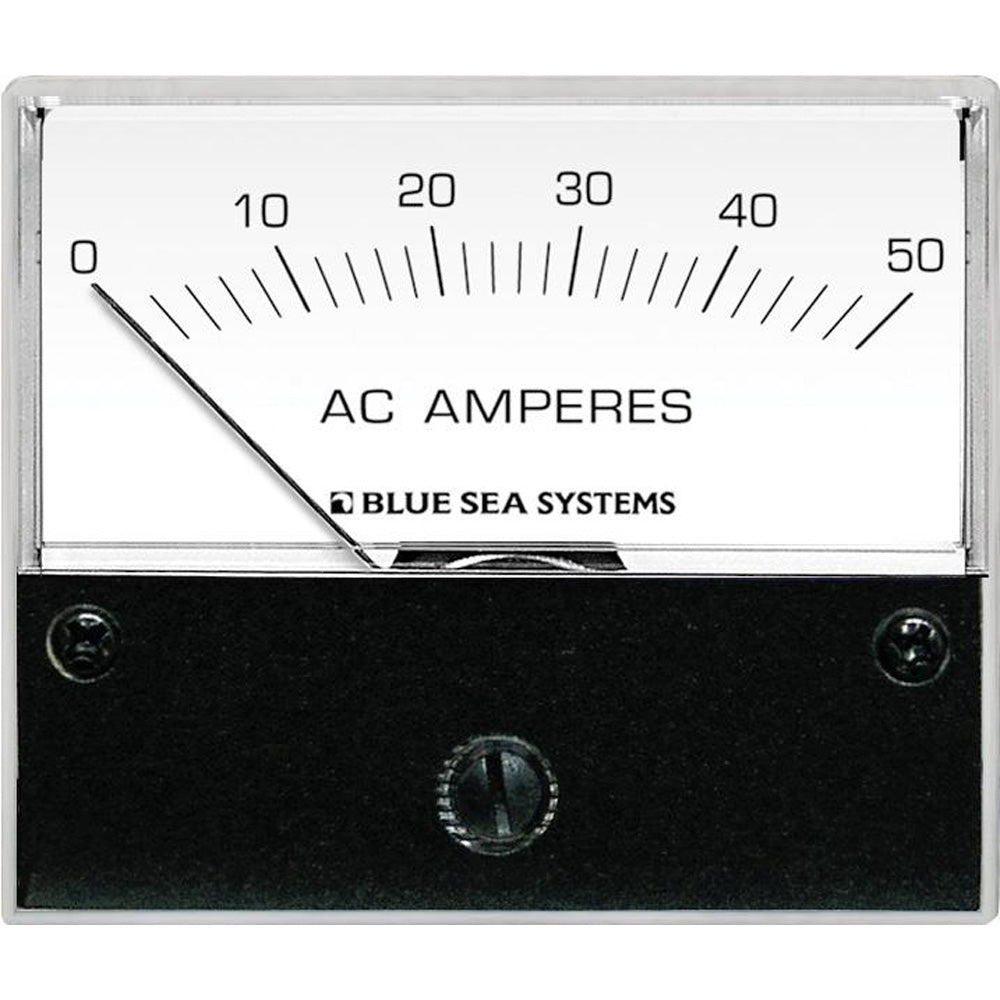 Blue Sea 9630 AC Analog Ammeter  0-50 Amperes AC [9630]