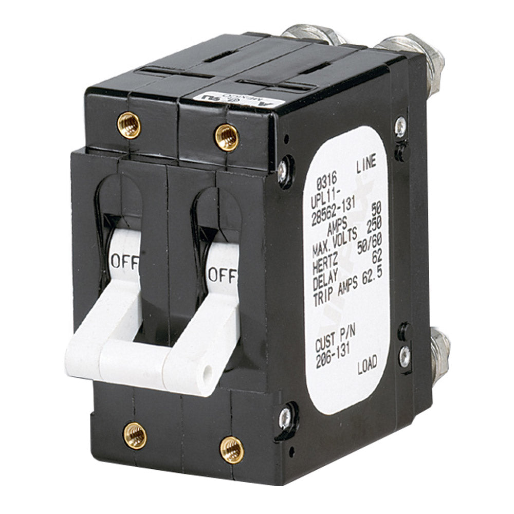 Paneltronics 'C' Frame Magnetic Circuit Breaker - 60 Amp - Double Pole - White [206-132]