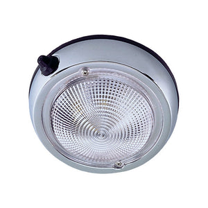 "Perko Surface Mount Dome Light - 6"" O.D.(5"" Lens) - Chrome Plated [0300DP2CHR]"