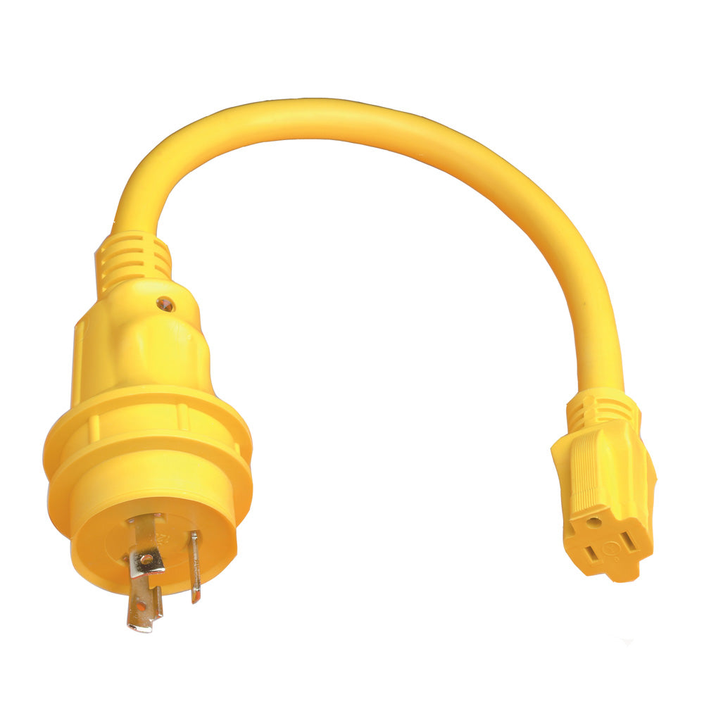 Marinco Pigtail Adapter - 15A Female to 30A Male [105SPP]