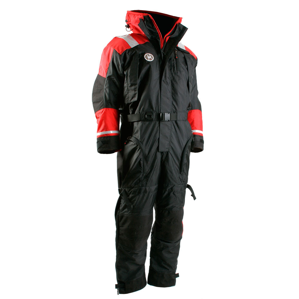First Watch Anti-Exposure Suit - Black-Red - Large [AS-1100-RB-L]
