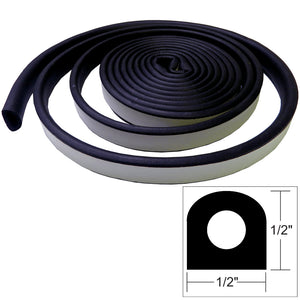 "TACO Weather Seal - 10'L x 1-2""W x 1-2""H - Black [V30-0202B10-1]"