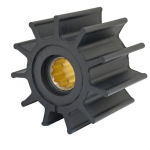 "Jabsco Impeller Kit - 12 Blade - Neoprene - 3-"" Diameter - Brass Insert - Spline Drive [17935-0001-P]"