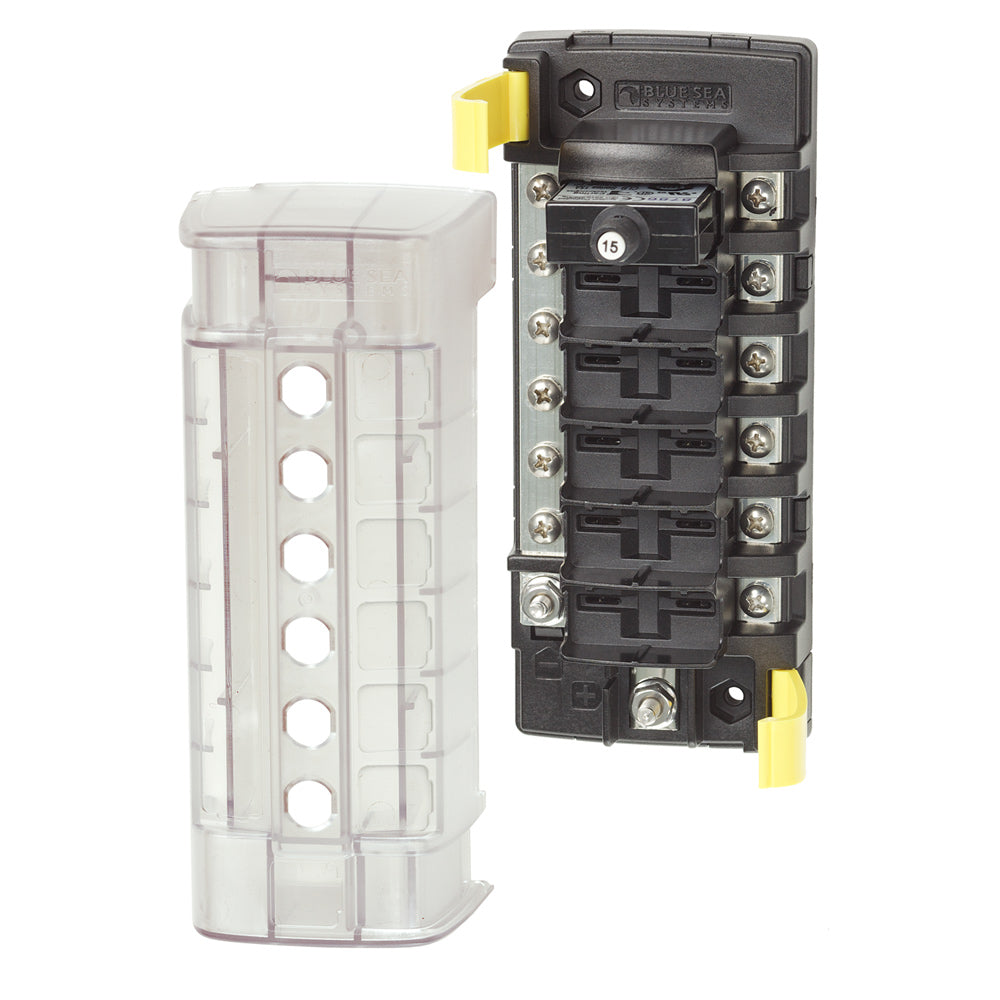 Blue Sea 5052 ST CLB Circuit Breaker Block - 6 Position w/Negative Bus [5052]