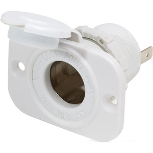 Blue Sea 12V Dash Socket - White [1011200]
