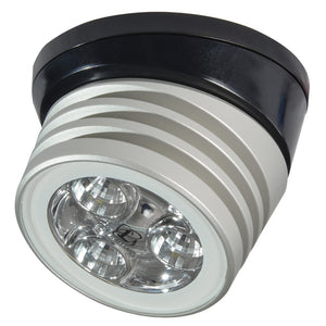 Lumitec Zephyr LED Spreader/Deck Light -Brushed, Black Base - White Non-Dimming [101326]